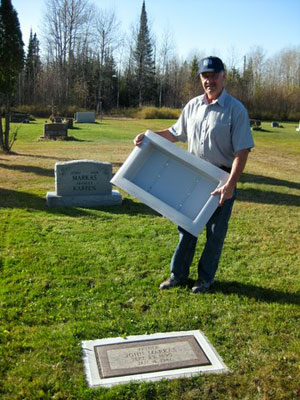 Owner and Inventor of the Grave Saver Grave Marker Border, John Markas